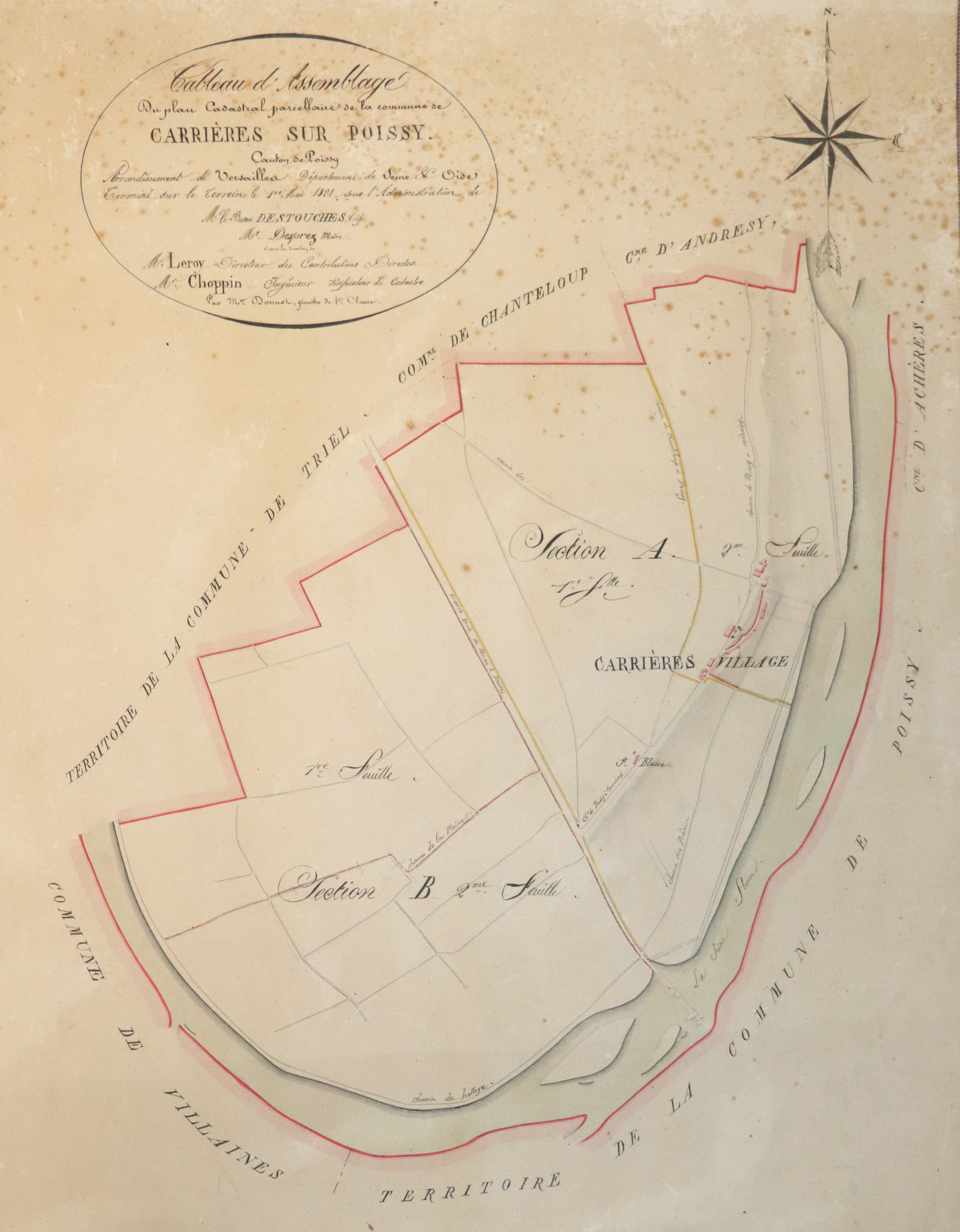PLAN Carrires 1821